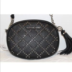 Michael Kors Ginny Grommet Studded Crossbody Bag